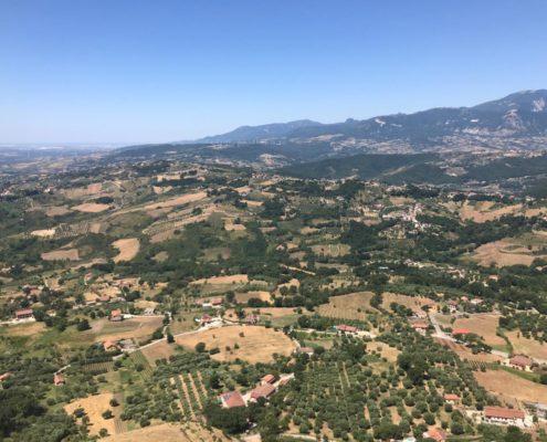 Vista aerea di Palomonte